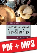 Grooves et breaks pop & slow-rock à la batterie (pdf + mp3)