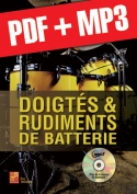 Doigtés & rudiments de batterie (pdf + mp3)