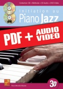 Initiation au piano jazz en 3D (pdf + mp3 + vidéos)
