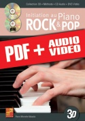 Initiation au piano rock & pop en 3D (pdf + mp3 + vidéos)