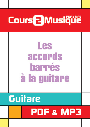 Accords De Guitare. Les accords barrés à la
