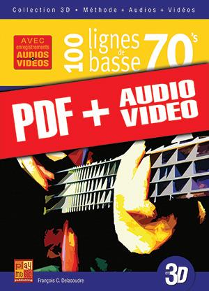 100 lignes de basse 70's en 3D (pdf + mp3 + vidéos)