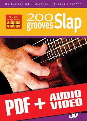 200 grooves en slap en 3D (pdf + mp3 + vidéos)