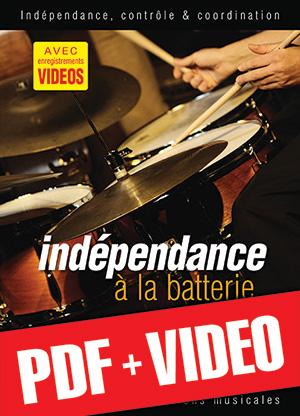 Indépendance à la batterie (pdf + vidéos)