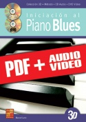 Iniciación al piano blues en 3D (pdf + mp3 + vídeos)
