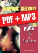 Guitar Training Session - Rock - Riffs & Rhythmiken (pdf + mp3)