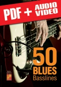 50 Blues Basslines (pdf + mp3 + videos)
