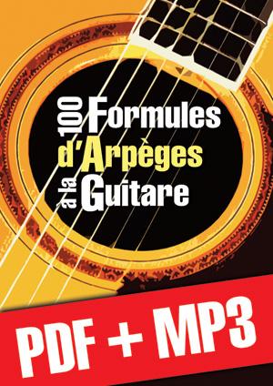 100 formules d'arpèges à la guitare (pdf + mp3)
