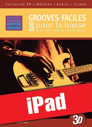 100 grooves faciles pour la basse en 3D (iPad)