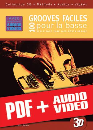 100 grooves faciles pour la basse en 3D (pdf + mp3 + vidéos)