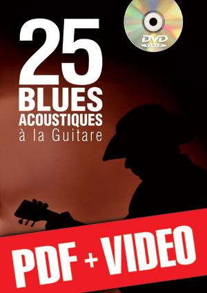 25 blues acoustiques à la guitare (pdf + vidéos)