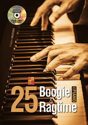 25 boogie & ragtime au piano