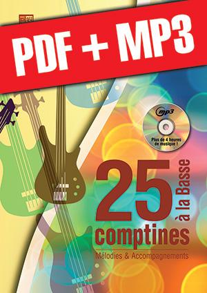 25 comptines à la basse (pdf + mp3)