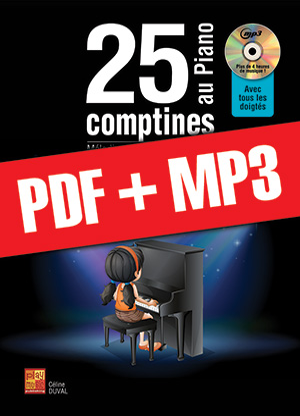 25 comptines au piano (pdf + mp3)