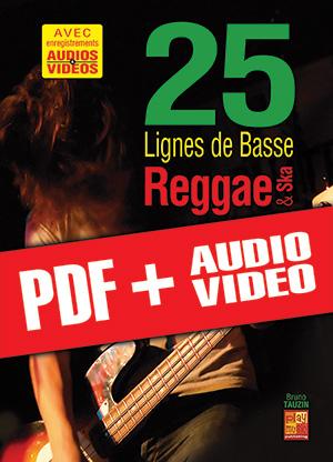 25 lignes de basse Reggae & Ska (pdf + mp3 + vidéos)