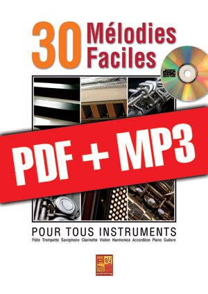 30 mélodies faciles - Piano (pdf + mp3)