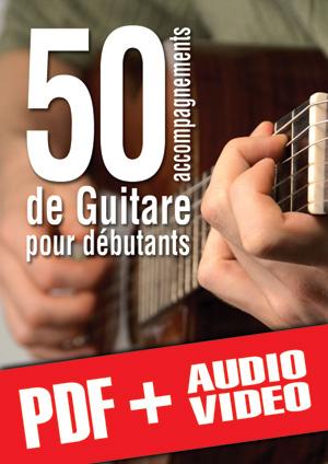 50 accompagnements de guitare pour débutants (pdf + mp3 + vidéos)