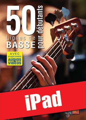 50 lignes de basse pour débutants (iPad)