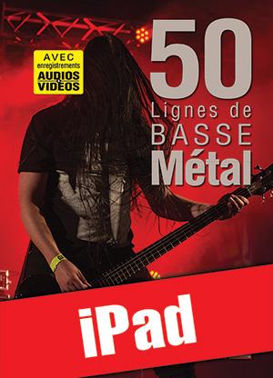 50 lignes de basse métal (iPad)
