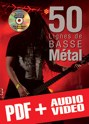 50 lignes de basse métal (pdf + mp3 + vidéos)
