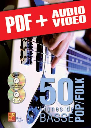 50 lignes de basse pop/folk (pdf + mp3 + vidéos)