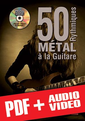 50 rythmiques métal à la guitare (pdf + mp3 + vidéos)