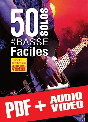 50 solos de basse faciles (pdf + mp3 + vidéos)