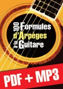 100 formules d'arpèges à la guitare (pdf + mp3)