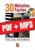 30 mélodies faciles - Accordéon (pdf + mp3)