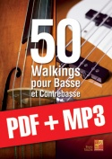 50 walkings pour basse et contrebasse (pdf + mp3)