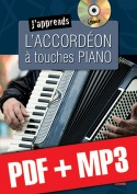 J'apprends l'accordéon à touches piano (pdf + mp3)
