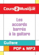 Les accords barrés à la guitare