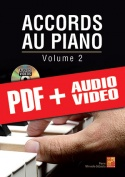 Accords au piano - Volume 2 (pdf + mp3 + vidéos)