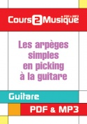 Les arpèges simples en picking à la guitare