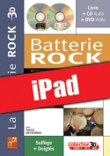 La batterie rock en 3D (iPad)