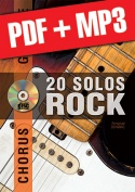 Chorus Guitare - 20 solos de rock (pdf + mp3)