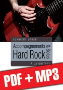 Accompagnements & solos hard rock à la guitare (pdf + mp3)
