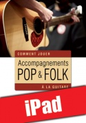 Accompagnements pop & folk à la guitare (iPad)