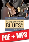 Accompagnements & solos blues à la guitare (pdf + mp3)