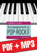 Accompagnements & solos pop-rock au piano (pdf + mp3)
