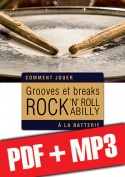Grooves et breaks rock, rock 'n' roll & rockabilly à la batterie (pdf + mp3)