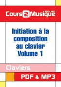 Initiation à la composition au clavier - Volume 1