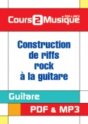 Construction de riffs rock à la guitare