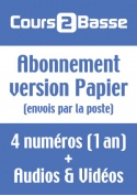 Abonnement Cours 2 Basse (Version Papier) - France