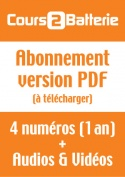 Abonnement Cours 2 Batterie (Version PDF)
