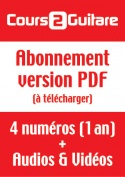 Abonnement Cours 2 Guitare (Version PDF)