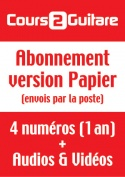 Abonnement Cours 2 Guitare (Version Papier) - France