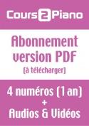 Abonnement Cours 2 Piano (Version PDF)