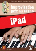 Improvisation jazz au piano en 3D (iPad)