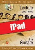Lecture des notes à la guitare (iPad)
